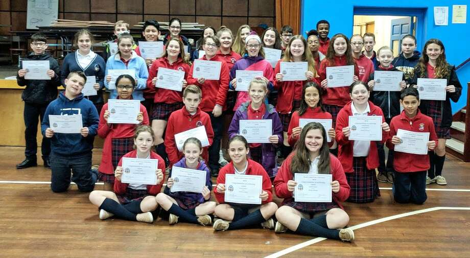 St. John Paul II School of Middletown has released the name of its most recent honor roll students. Photo: Contributed Photo