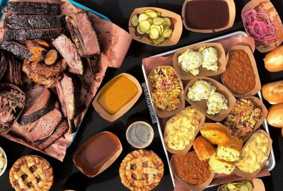 The spread from Heritage Barbecue in Orange County, Calif. Photo: Kevinsbbqjoints.com