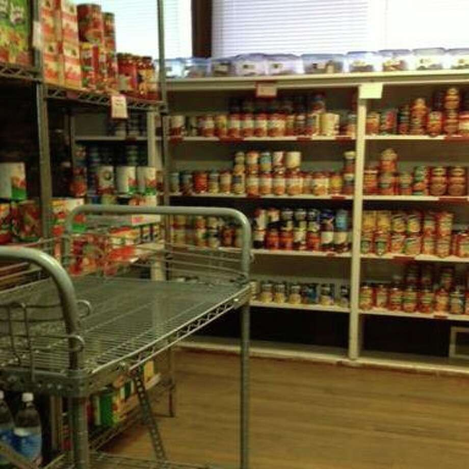 The Monroe Food Pantry is restocking for April, and is in need of donations to refill its shelves. Photo: Contributed / Monroe Food Pantry