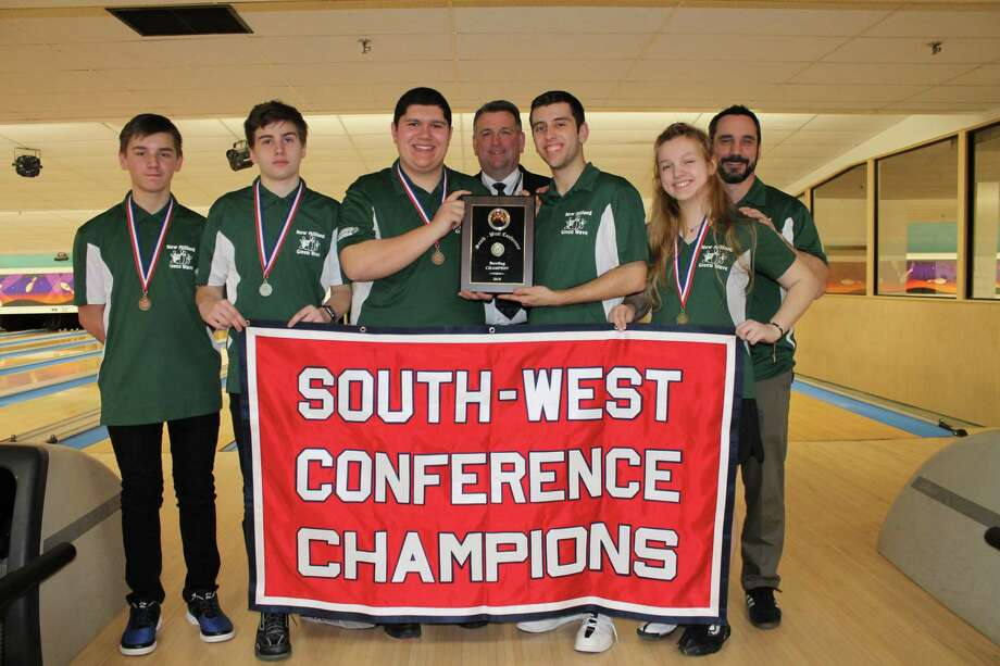 New Milford High School recently won the South-West Conference bowling championship. Photo: Submitted