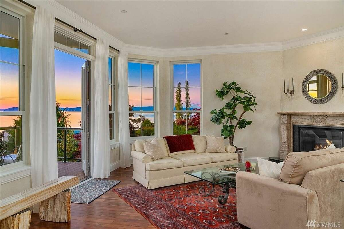 Overlooking the Puget Sound, this 5,783 square foot residence has views to spare. Boasting 5 bedrooms and 4.5 baths, a wine cellar and a large deck, among other amenities.The home is listed for $2.75 million.