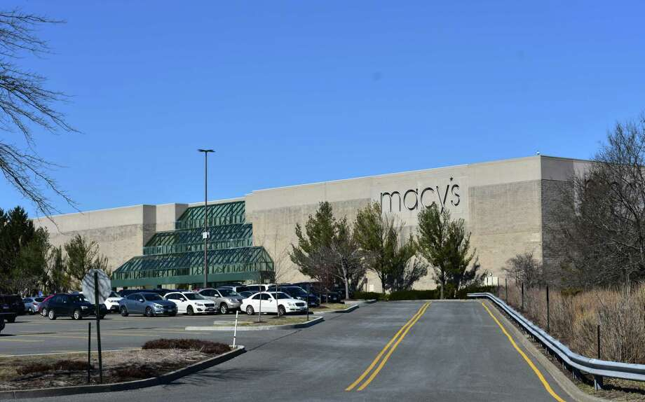 The southern facade of Macy's at Danbury Fair mall in Danbury, Conn. According to a brokerage listing posted online in March 2019, two new structures are planned with one extending 100 feet from the Macy's entrance, and another along the access road leading to the department store. Photo: Alexander Soule / Hearst Connecticut Media / Stamford Advocate