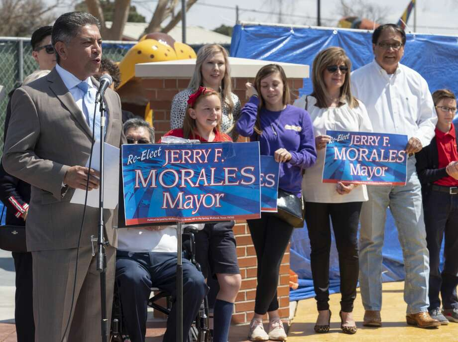 Mayor Jerry Morales announces his intentions to run for another term as Mayor of Midland. Photo: Tim Fischer