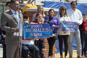 Mayor Jerry Morales announces his intentions 03/26/2019 to run for another term as Mayor of Midland.  Tim Fischer/Reporter-Telegram