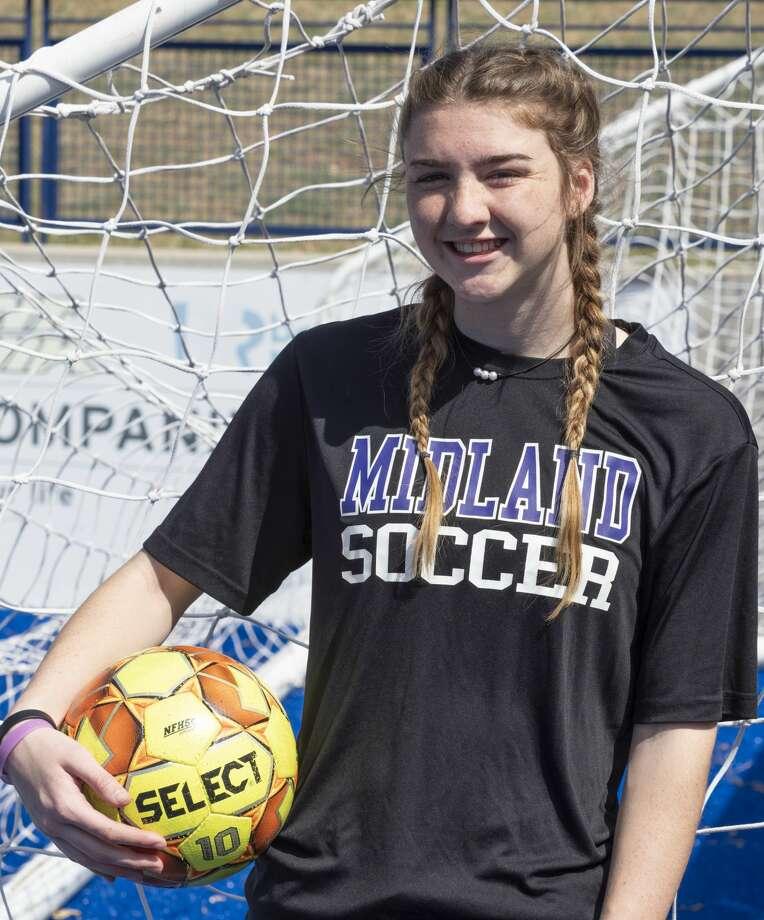 Midland High's Allison Robinson during practice 03/25/2019. Tim Fischer/Reporter-Telegram Photo: Tim Fischer