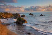 An Ione, Calif., man was killed at Luffenholtz Beach near Trinidad, Calif., on Friday when a sneaker wave swept him off the rock that he was fishing from.
