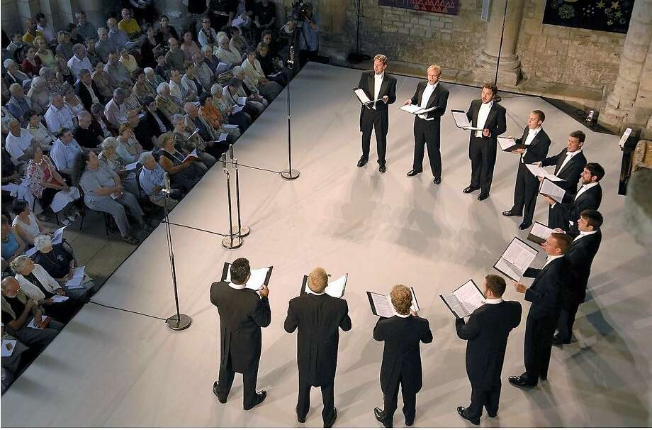 Chanticleer performs on stage in France. Photo: Chanticleer / Contributed Photo