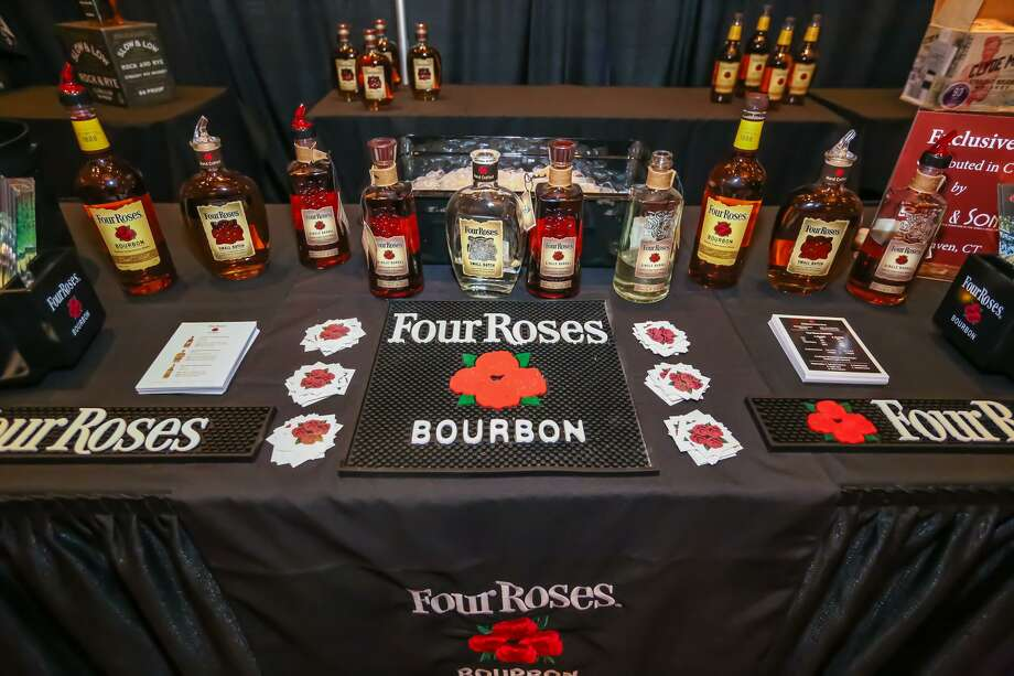 A four Roses bourbon display at 2018's Whiskey Union. Photo: Mohegan Sun / Contributed Photo / Muggle Photography