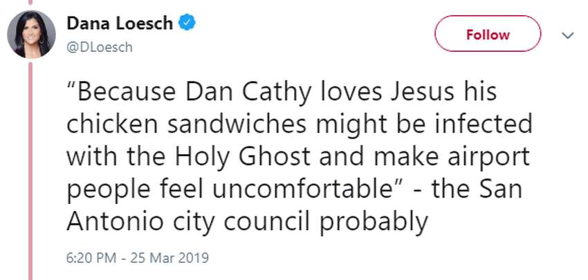 Twitter users from across the country reacted to the San Antonio city council's decision to block Chick-fil-A from opening in the San Antonio International Airport.