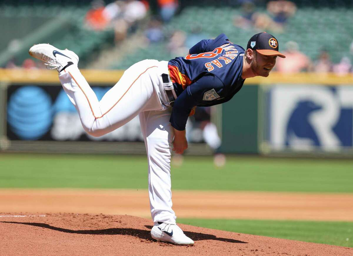PHOTOS: Houston Astros fan giveaways for 2019 Houston Astros starting pitcher J.B. Bukauskas (69) pitches during the top first inning of the MLB exhibition game against the Pittsburgh Pirates at Minute Maid Park on Tuesday, March 26, 2019, in Houston. >>>See the remaining Astros fan giveaways this season ...
