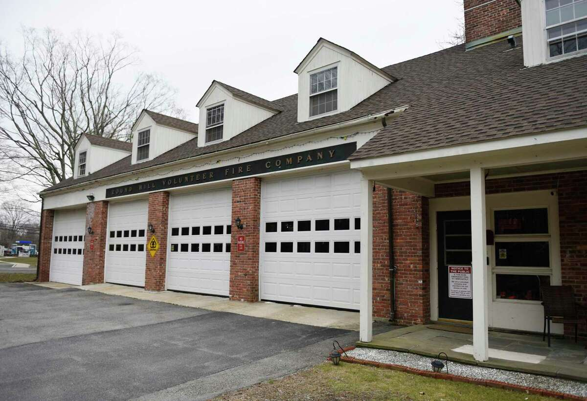 The Round Hill Volunteer Fire Department in Greenwich, Conn., photographed on Monday, March 25, 2019. The ongoing study has left the renovation project in a bit of flux even though the project is ready to proceed to construction permits.