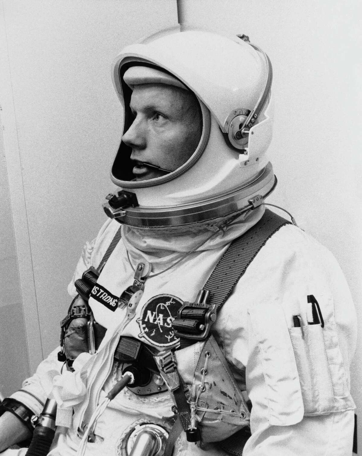 Before the Apollo 11 mission, Neil Armstrong participated in the Gemini 8 flight, where the Gemini capsule was connected to the target. This maneuver was an essential for the moon landing. Pictured: (March 6, 1966) Neil Armstrong is pictured before his Gemini VIII mission, in which he served as the command pilot. This information has been previously reported by the Houston Chronicle:Listen: Project Gemini acted as a bridge between Mercury, Apollo