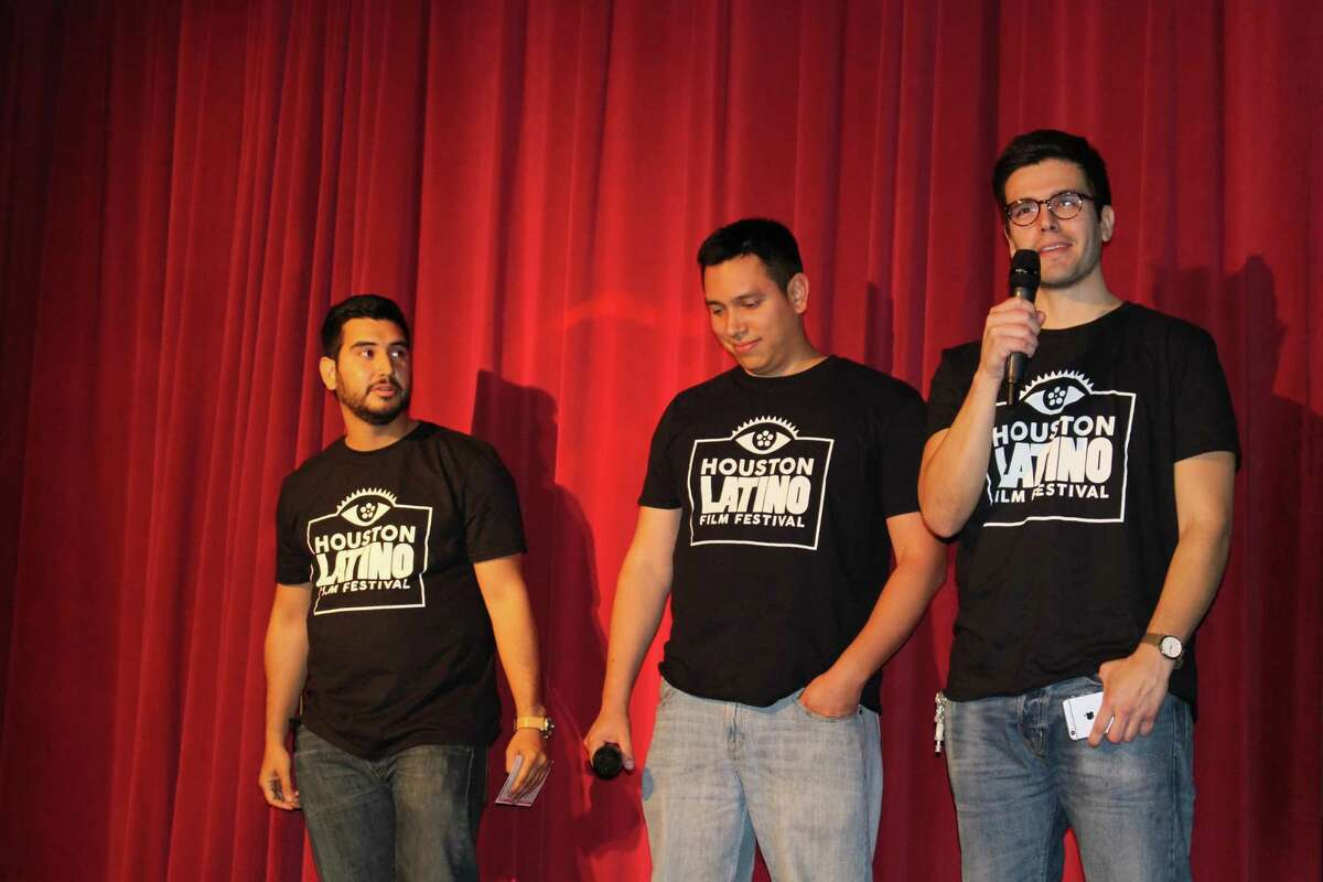 Dave Cebrero (right), Pedro Rivas (center) and David Cortez (left) run the Houston Latino Film Festival