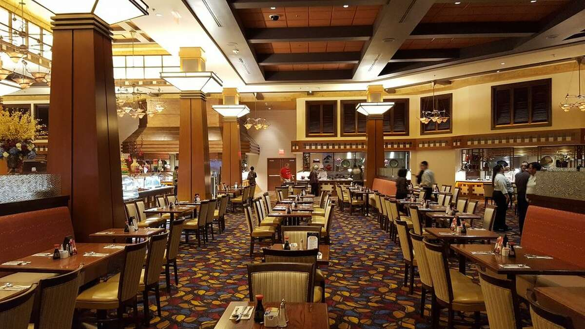 The main dining room at the Harvest Buffet restaurant at Cache Creek Casino.