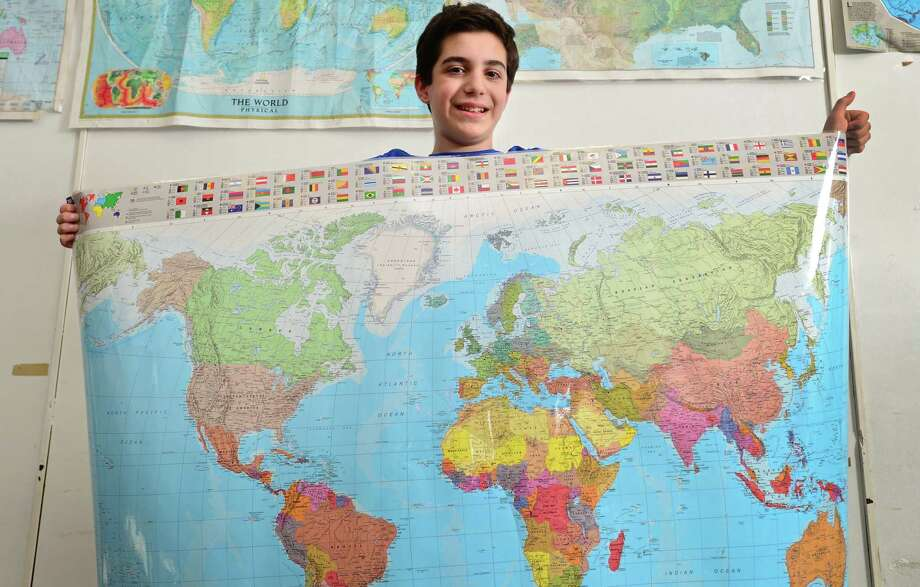 Roton Middle School seventh-grader Joseph Dichiaro is the lone Norwalk middle-schooler to qualify for the state level of the National Geographic Bee, Friday in Hartford. Photo: Erik Trautmann / Hearst Connecticut Media / Norwalk Hour
