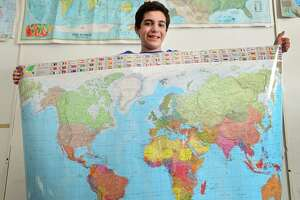 Roton Middle School seventh-grader Joseph Dichiaro is the lone Norwalk middle-schooler to qualify for the state level of the National Geographic Bee, Friday in Hartford.
