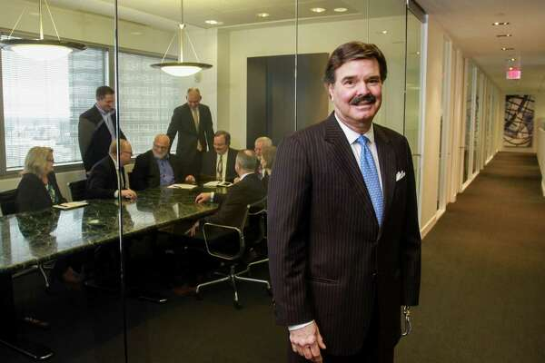 Houston developer Dean Patrinely of Patrinely Group in their offices.