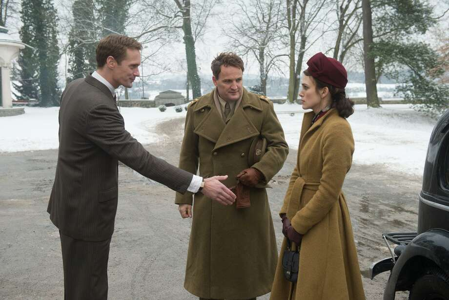 "From left: Alexander Skarsgard, Jason Clarke and Keira Knightley star in ""The Aftermath,"" a romantic potboiler set in post-World War II Hamburg. MUST CREDIT: David Appleby, Fox Searchlight Pictures Photo: David Appleby / Fox Searchlight Picutres / © 2019 Twentieth Century Fox Film Corporation"
