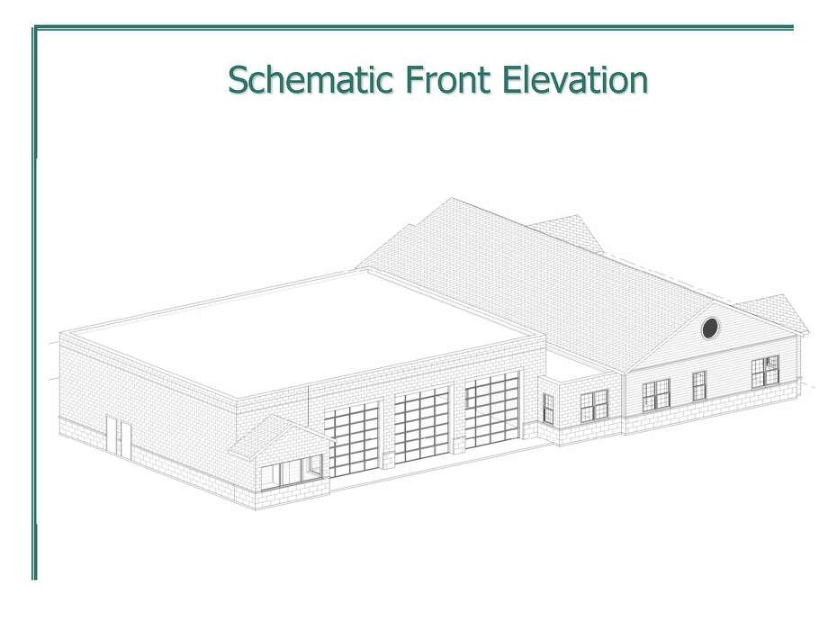Drawing of proposed $4.2 million Charlton fire station Photo: Hueber-Breuer