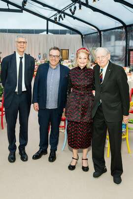 CCA President Steve Beal, event chairs Stanlee Gatti and Cathy Podell, honoree Wayne Thiebaud
