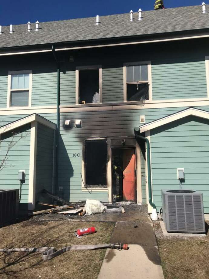 Firefighters extinguished a blaze at 10 Solomon Crossing in New Haven. Photo: Contributed