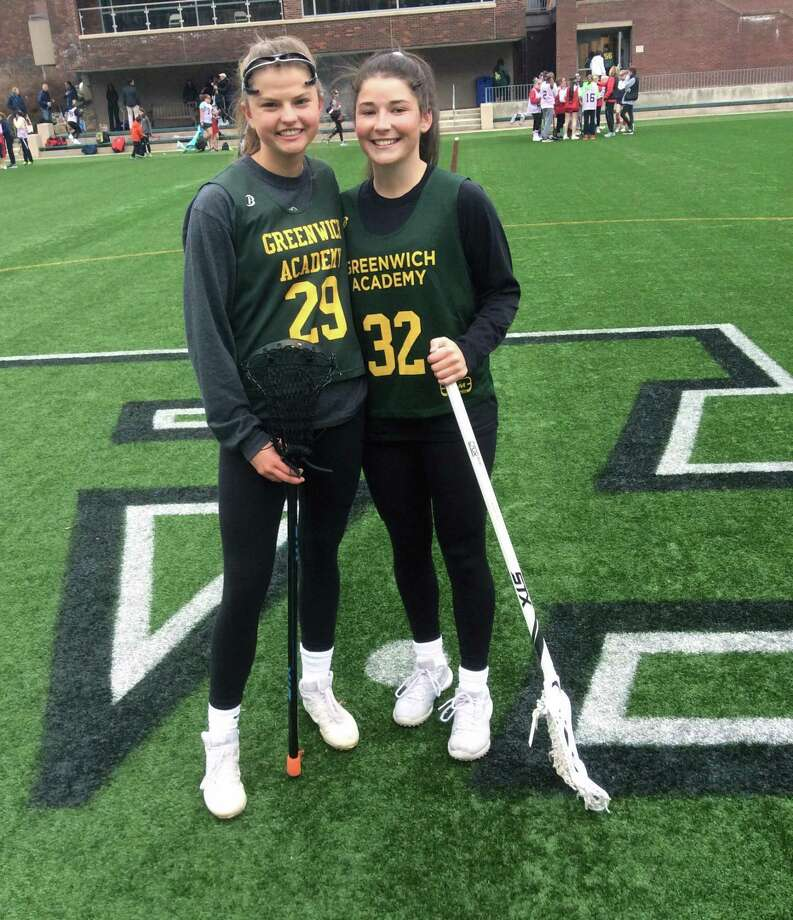 Leila Schneider and Taylor Lane will serve as captains on the Greenwich Academy lacrosse team, which went 15-1 last season. Photo: David Fierro / Hearst Connecticut Media / Connecticut Post