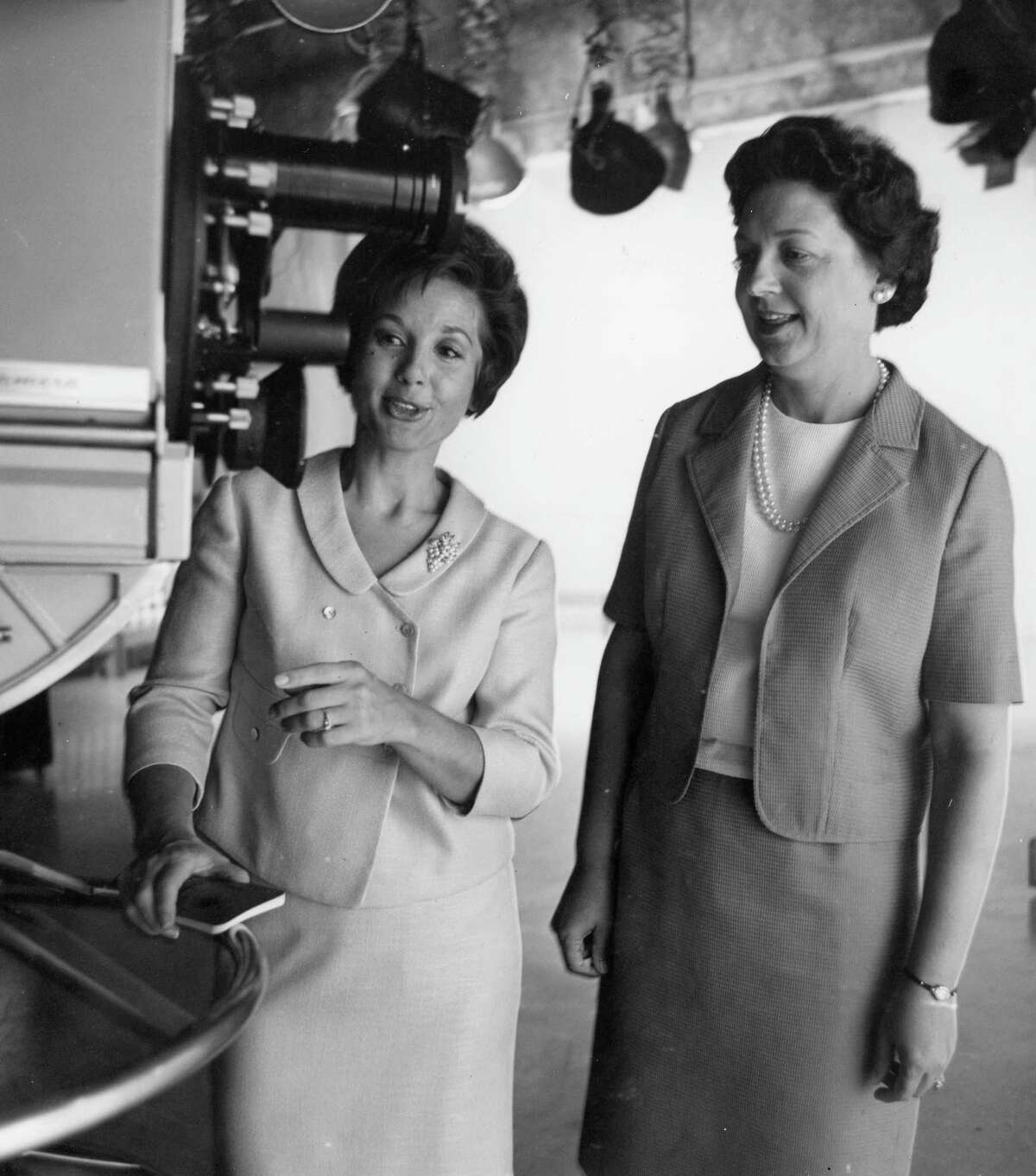 Ginny Pace, left, and Mrs. C.J. Collier, July 1965.