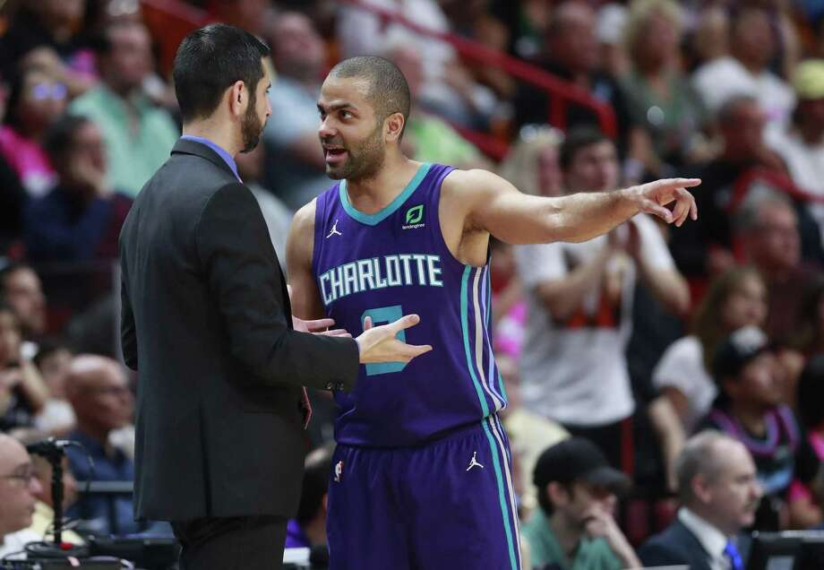 "According to a tweet by The Athletic's Charlotte Hornets beat writer Rob Boone, Parker said during a post-game press conference following the team's last game of the season that he is ""50-50"" on returning. Photo: Wilfredo Lee /Associated Press / Copyright 2019 The Associated Press. All rights reserved"