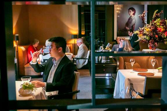 People have dinner at Quince in San Francisco, Calif. on on May 2nd, 2018.