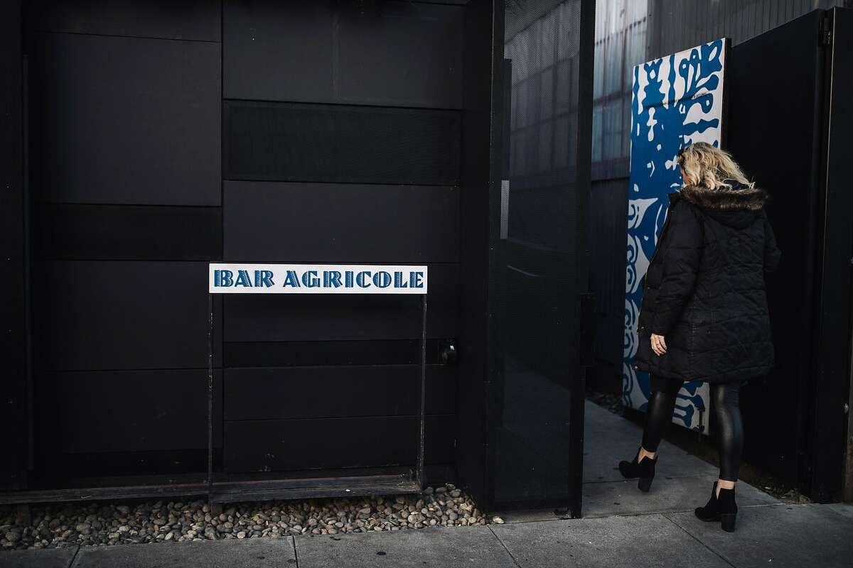 An exterior view of Bar Agricole in San Francisco, Calif. on Thursday, March 22, 2018.