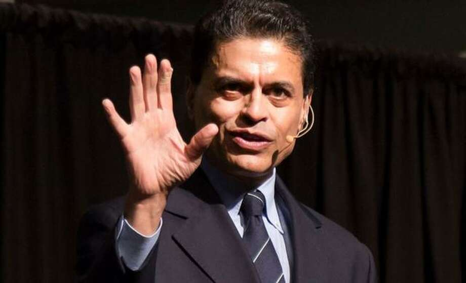 CNN international news host Fareed Zakaria speaks during the fourth annual Mannie Jackson Center for the Humanities Fundraiser Dinner at the Lewis and Clark Community College Commons Tuesday in Godfrey. Photo: Laura Inlow | LCCC Manager Of Media Services