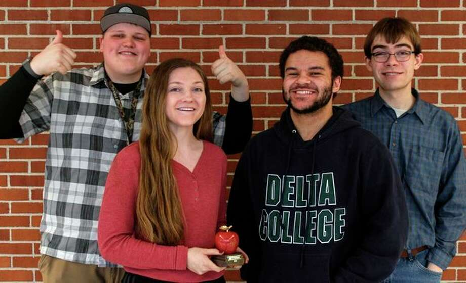The Delta Collegiate team that produced the award-winning newscast 'DeltaBeat'. (Photo provided/Delta College)