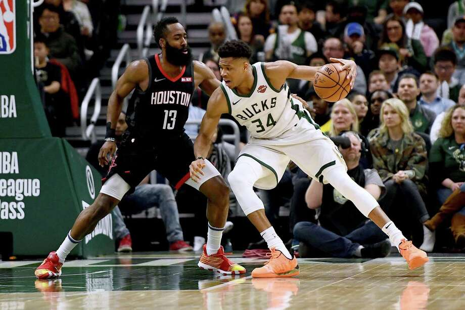 PHOTOS: Everything you should know about Rockets' newest addition Russell Westbrook The last two MVPs will square off in the opener for the Rockets as James Harden faces Giannis Antetokounmpo on Oct. 24. Photo: Stacy Revere, Getty Images / 2019 Getty Images