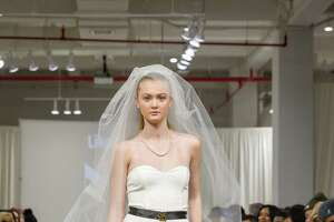 New York Fashion Week model Paige Andersen suggests a hip bride.