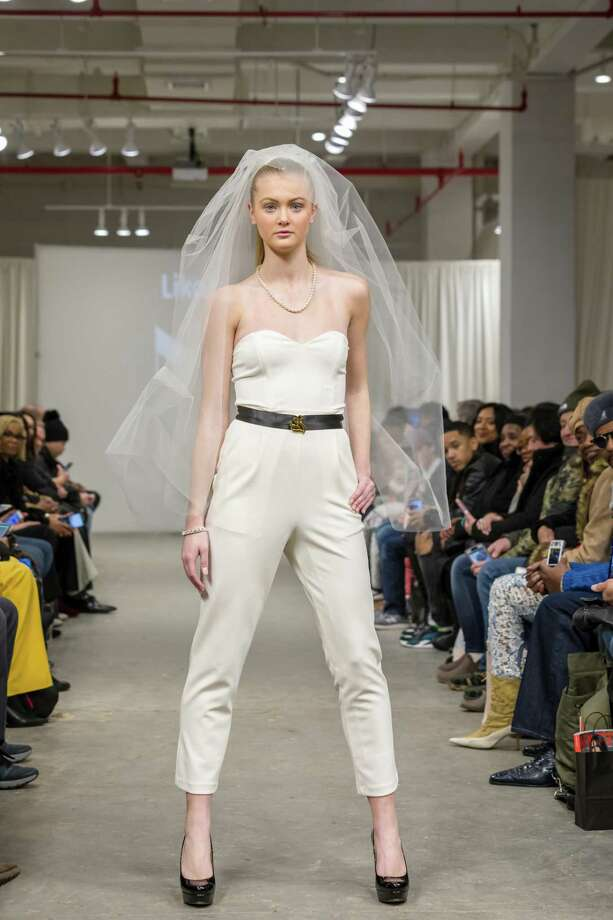 New York Fashion Week model Paige Andersen suggests a hip bride. Photo: Bob Schultz / Contributed Photo / 2018