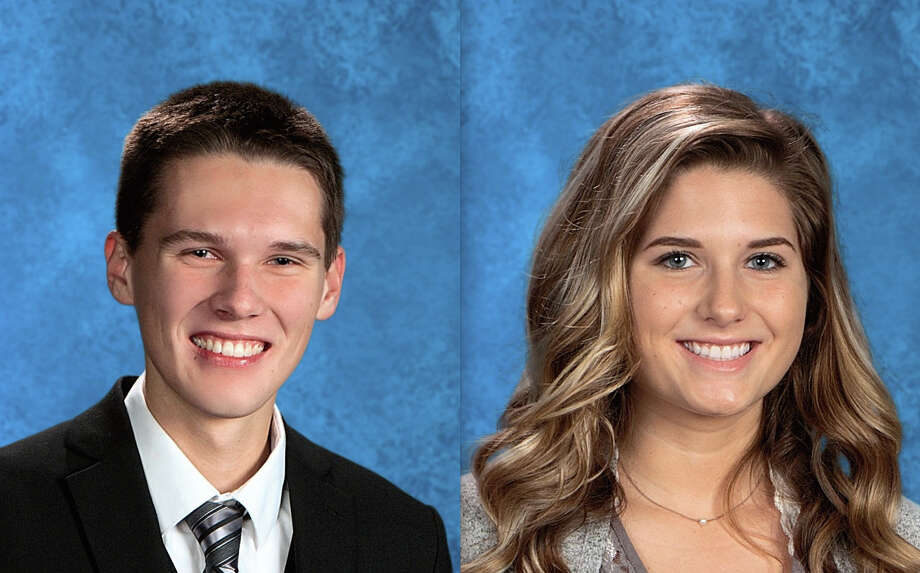Laker High School announced Andrew J. Smith has earned valedictorian honors with a GPA of 4.344. Abigail J. Schuette has earned the salutatorian honors with a GPA of 4.302. Photo: Submitted Photo