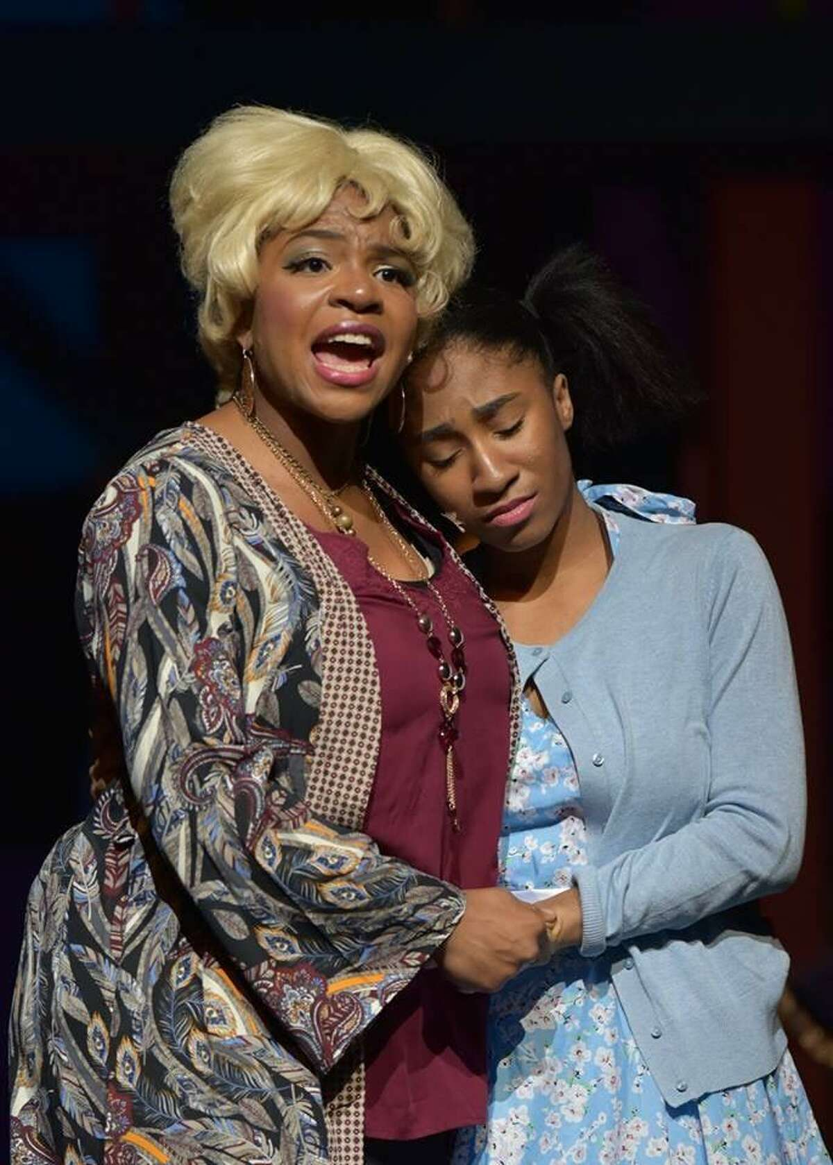 Arielle Roberts, left, received a Tommy Tune nomination for best actor for her role as Motormouth Maybelle in Clear Springs High's