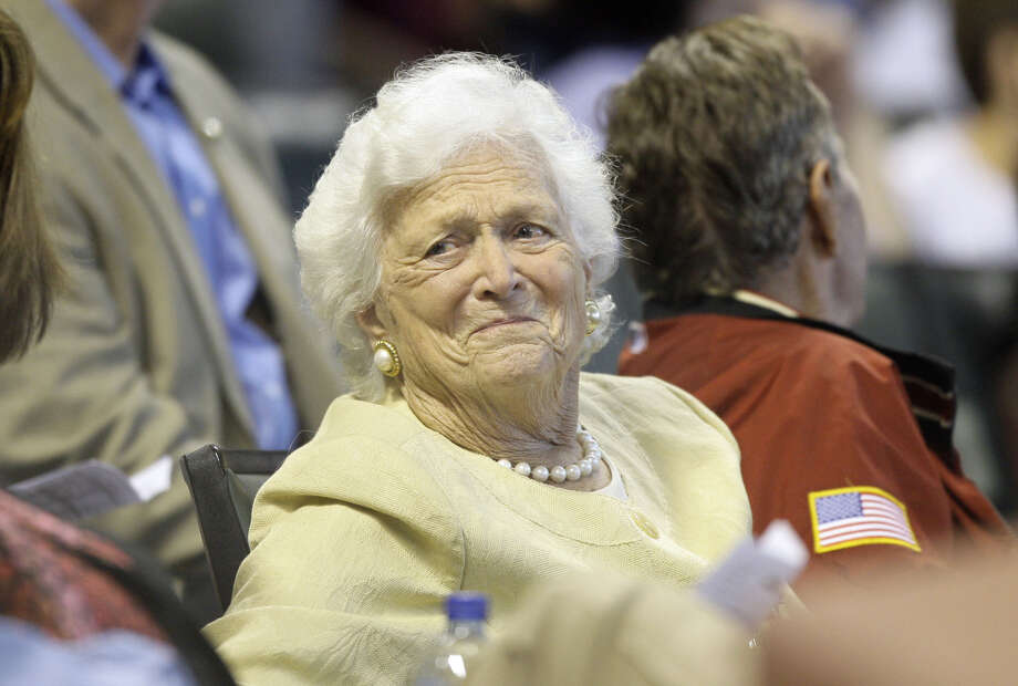 "Former first lady Barbara Bush attends a Houston Astros game on April 18, 2009. Excerpts of her upcoming biography, ""The Matriarch,"" were published today in USA Today. Photo: AP File Photo"