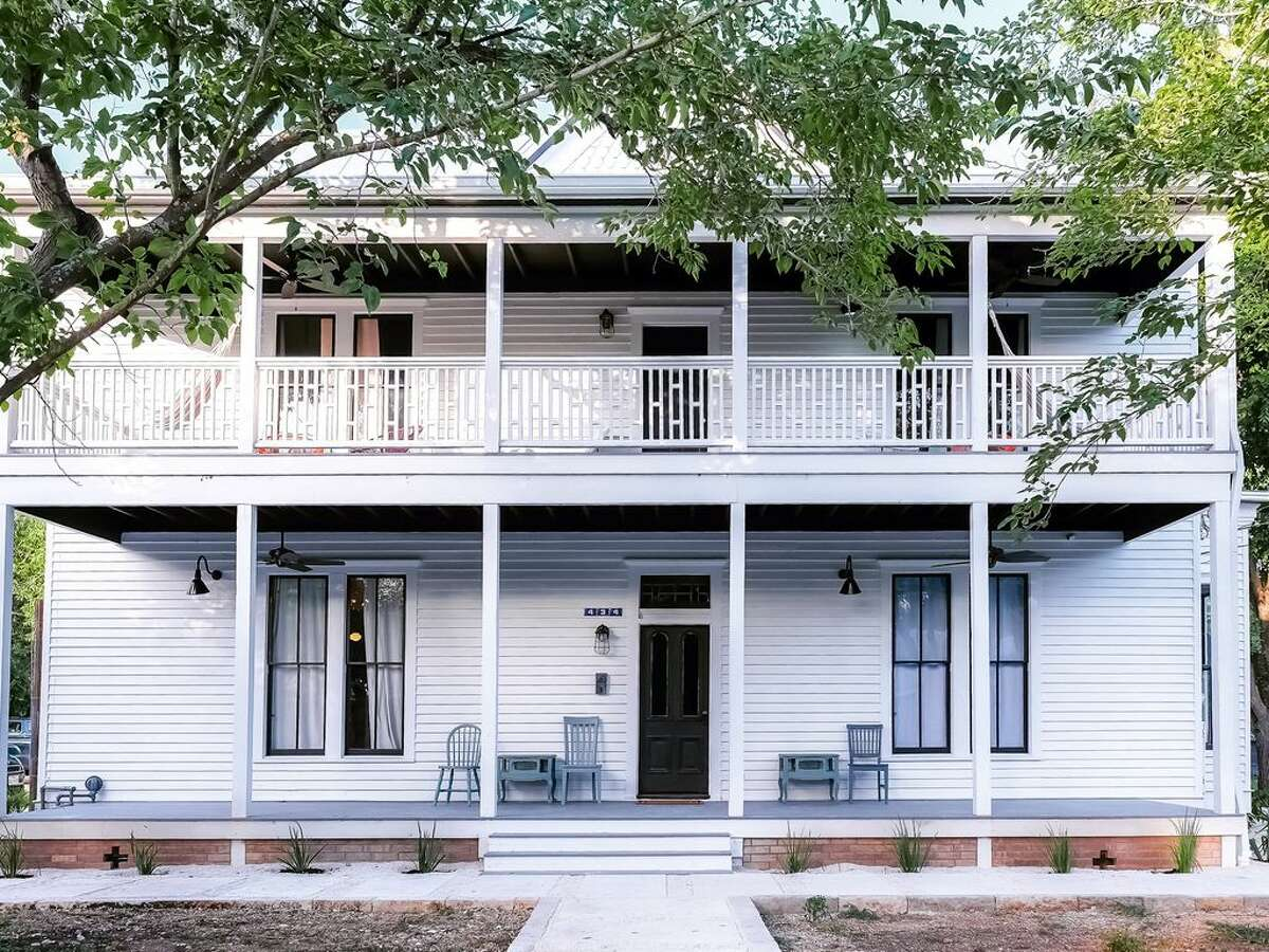 Lockhart Average price per night: $530 | Sleeps: 10 | Average per person: $53 This bright, modern house contrasts with its rural Texas setting. Known as