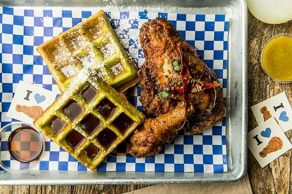 Little Skillet's fried chicken gets paired with a pandan mocha waffle for Kulinary Confidential.