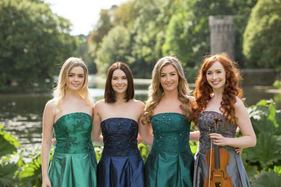 Celtic Woman, featuring Megan Walsh, left, Mairead Carlin, Eabha McMahon and Tara McNeil, will perform at The Bushnell Performing Arts Center in Hartford on April 3. Photo: Contributed Photo