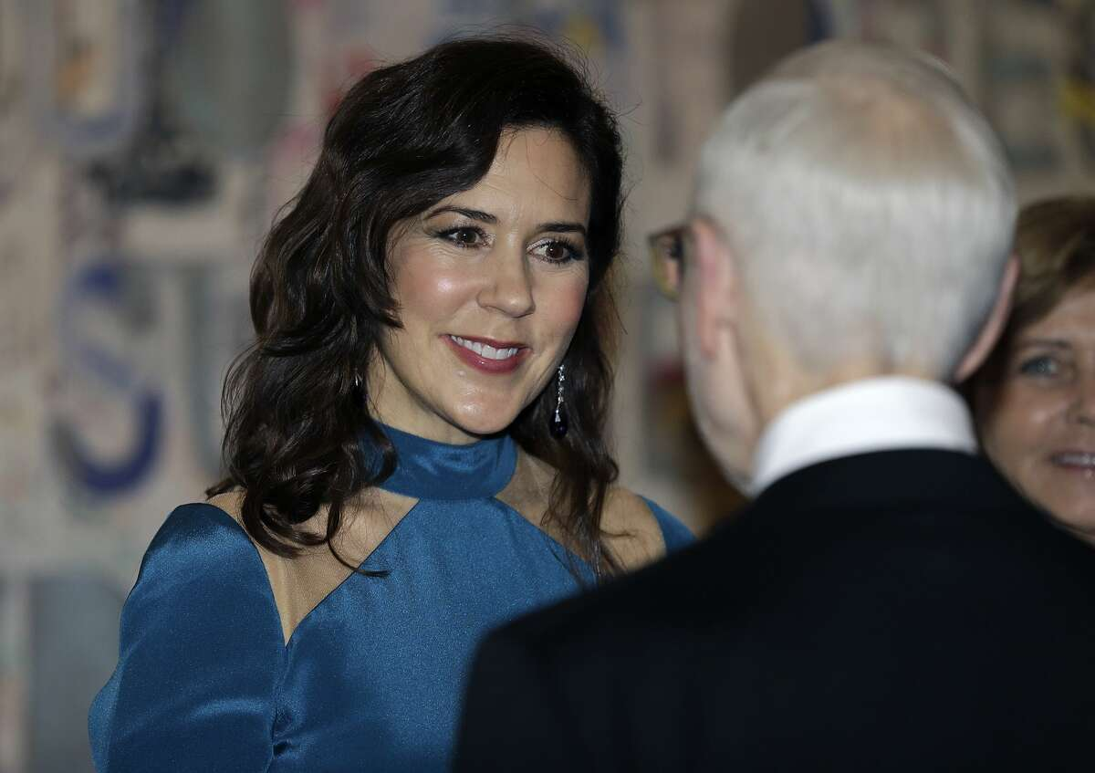 HRH Mary, Crown Princess of Denmark arrives for a Gala Dinner at the Museum of Fine Arts on March 12, 2019 in Houston, Texas.