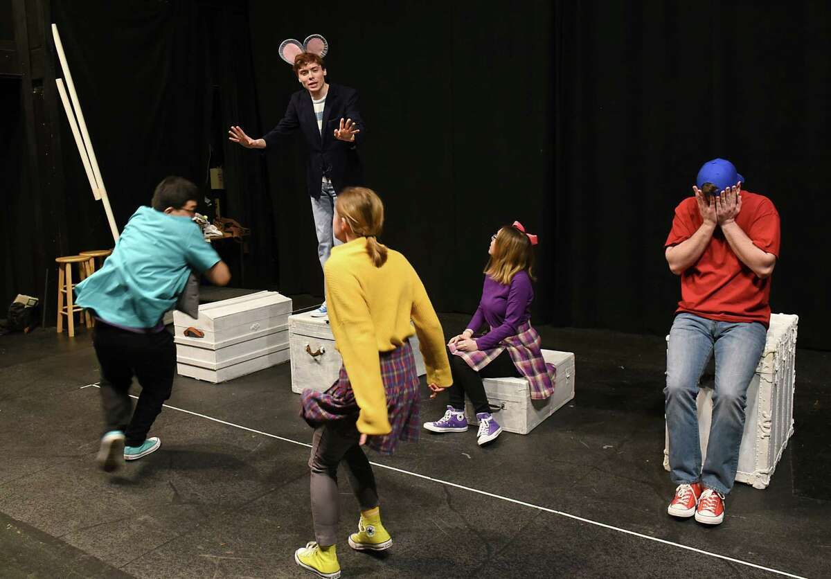 Actors rehearse of a kid-focused version of the E.B. White story