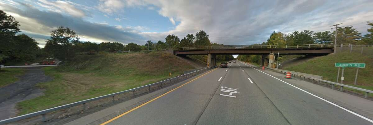 Reduced lane widths are in store in both directions on the Northway (I-87) underneath the Jones Road overpasses between exits 15 and 16 in Wilton.