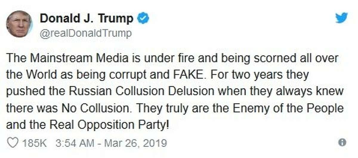 Trump Tweet on media