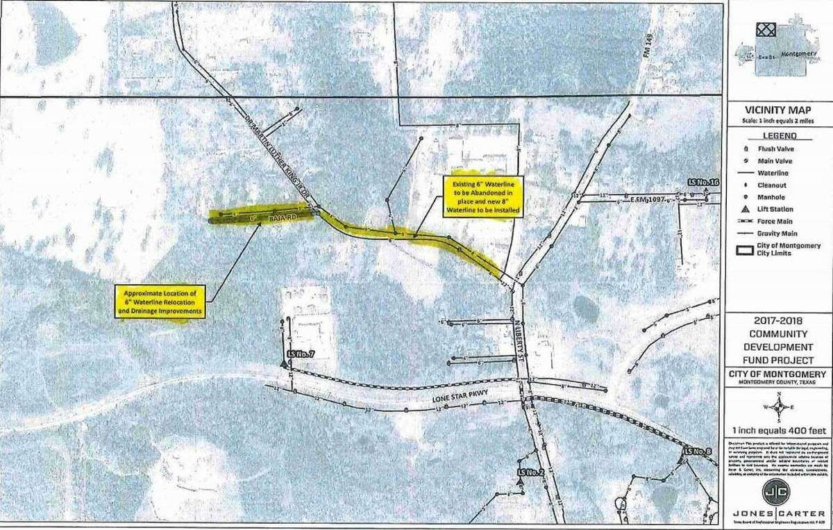 The city of Montgomery has awarded the bid for Dr. Martin Luther King Drive and Baja Road water and drainage improvements to Boretex, LLC.
