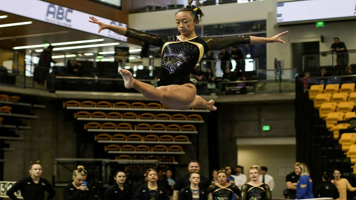 Albany High graduate Mary Elle Arduino of the Towson gymnastics team. (Courtesy of Towson Athletics)