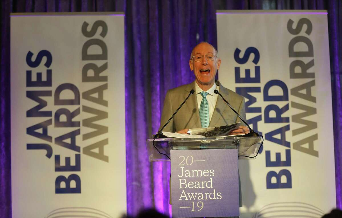 David Mincberg, chairman of Houston First reads opening remarks during the James Beard Foundation's announcement of the finalists for the 2019 James Beard Awards recognizing the best chefs and restaurants in the country from Hugo's.