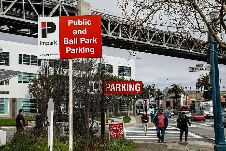 The parking lot on the Embarcadero has been proposed by Mayor London Breed  as a potential Navigation Center. On Wednesday, opponents of the center filed a lawsuit against the project. Photo: Gabrielle Lurie / The Chronicle
