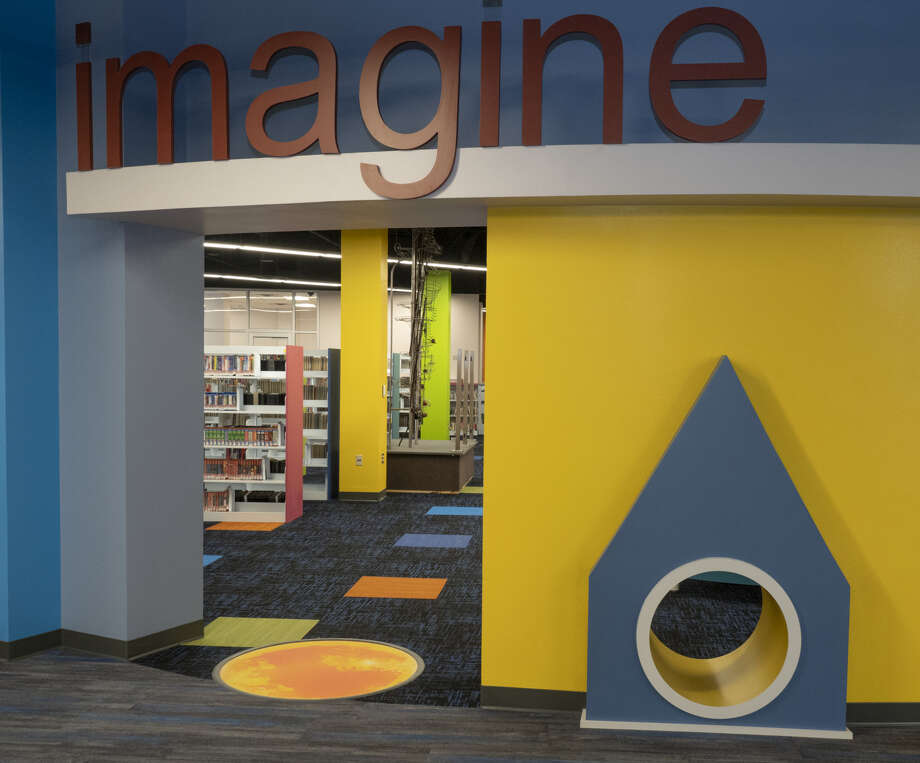This is the children's area of the renovated downtown branch of the Midland County Public Library. County commissioners have named it the Library at the Plaza. Photo: Tim Fischer/Reporter-Telegram